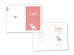 Geboortekaartje meisje - Sam
