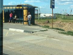 Un arrêt de bus !