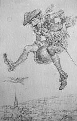 Ritt auf der Kanonenkugel (Bleistift 30x15 2006)