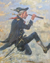 Flug auf der Kanonenkugel (Öl auf Leinwand 40x50)