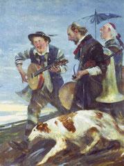 Irrende Musiker (Öl auf Leinwand 40x50)