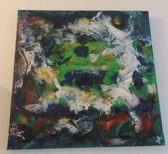 Acrylbild auf Leinwand/ Keilrahmen - 40 x 40 cm - ( verkauft / verschenkt)