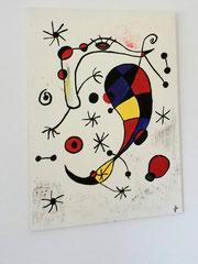 Acrylbild auf Leinwand/ Keilrahmen - Hommage an Joan Miro - 50 x 70 cm - April 2017