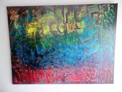Acrylbild auf Leinwand/ Keilrahmen- 60 x 80 cm / Abstrak - Juni2017