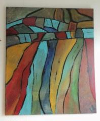 Acrylbild auf Leinwand/ Keilrahmen - 50 x 60 cm - ABSTRAKT-ANTIK -.- November2016