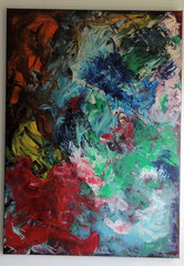 Acrylbild auf Leinwand/ Keilrahmen - 50 x 70 cm - Abstrakt / Juli 2017