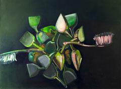 Die Vermehrung des Kehrsets, 2016, Öl auf Leinwand, 100 x 130 cm