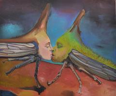 Paar, 2020, Öl auf Leinen, 100 x 120 cm