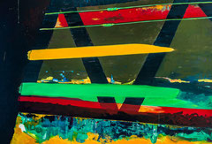 Traffic Light Colors, 2014, acrylic on canvas, 130 x 190 cm