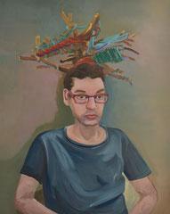 Gregor, 2019, Öl auf Leinen, 100 x 80 cm
