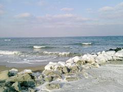 Eis an der Ostsee