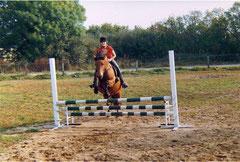 Laila und ich beim Springen :)