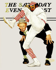 Copertina di The Saturday Evening Post in occasione del Centenario della nascita del baseball