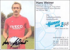 Werner, 2000er Jahre, Privatkarte, Satzkartendesign, 'Hanne am Zoo', Dank an SF Klaus