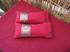 Kleine Kissen  - Leinen mit original indischer Sarinborte 23 €