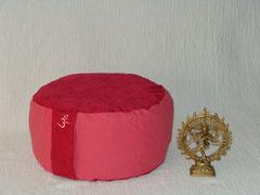 Meditationskissen/ Einzelstück - /Artikelnummer X01 / Leinen Baumwolle - Mix /dunkelrot lachsrosa /Größe  2 / 78 €