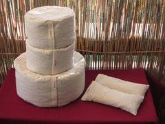 Die Innenkissen aus Nessel oder Baumwolle-Leinen in Größe  1;  02;  und kleine Kissen