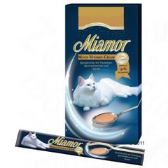 Miamor Cat Confect Multi-Vitamin Cream  Schmackhafte Miamor Spezialcreme mit wertvollen Vitaminen, Spurenelementen und Taurin zur optimalen Versorgung, kann unterstützend auf das Immunsystem wirken und die körpereigenen Abwehrkräfte stärken