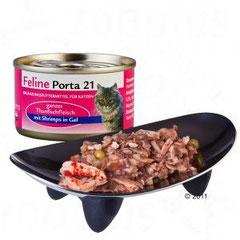 Feline Porta 21 Katzenfutter ist ein reines Naturprodukt mit natürlichen Inhaltsstoffen, mit wichtigen Vitaminen, Mineralstoffen und Taurin, ausgeglichenes Kalzium-Phosphor-Verhältnis