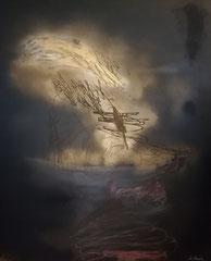 GötterVision 100 cm x 120 cm Leinwand auf Keilrahmen Spray, Struktur, fixiert