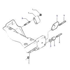 Sujeción de motor y el soporte para eje delantero.