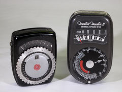 General Electric Exposure Meter Type PR-1 (circa 1948); Weston Master II Universal Exposure Meter, Model 735 (1945-1953)
