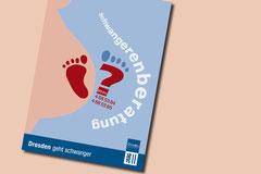 Gestaltung einer Postkarte für die Stadt Dresden unter Beachtung der Gestaltungsrichtlinien. Projekttittel: Dresden geht schwanger