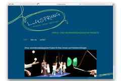 Luftsprung ist online, realisiert von BLAO