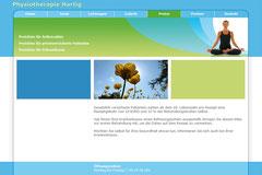 Webdesign Physiotherapie Hartig · www.pt-knott.de