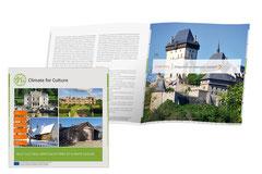 """Gestaltung, Layout und Satz Broschüre """"Climate for Culture"""". Herausgeber: Fraunhofer MOEZ · Auftraggeber: Pfefferkorn&Friends GmbH"""