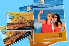Katalogerstellung + Einladungskarten (Gestaltung, Layout, Satz) - Tourismusverband Usedom e.V. 2016/17