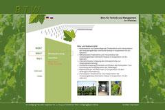 Webdesign Büro für Technik- und Management im Weinbau, www.btw.patzwahl.de/site/wo.htm