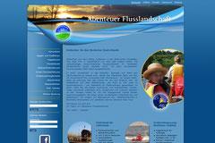 Webdesign Abenteuer Flusslandschaft, www.abenteuer-flusslandschaft.de