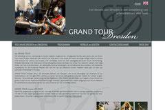 """Webdesign """"Grand tour Dresden"""", www.grandtourdresden.de"""