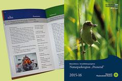 """Gestaltung, Layout und Satz - Umweltbildungskatalog Nationalparkregion """"Peenetal"""", Mecklenburg Vorpommern"""