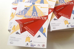 Flyergestaltung für die Abschlusspräsentation der Altagsakrobaten