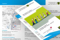 Gestaltung von Drucksachen für das SÄCHSISCHES STAATSMINISTERIUM FÜR WIRTSCHAFT, ARBEIT UND VERKEHR. Hier Programm-Flyer zum 3. Fachtag