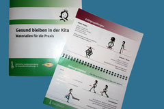 """Gestaltung, Layout, Satz und Karikatur - """"Gesund bleiben in der KiTa"""", Sächs. Landesvereinigung f. Gesundheitsförderung e.V., Dresden"""