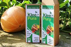 Entwicklung des KLEEPURA-Logos und Verpackungsdesign für den ersten Bio-Dünger von gründerdüngen