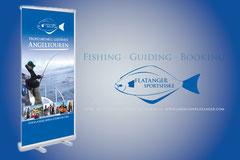 Logo-, Kommuniaktions- und Werbemittelerstellung für Flatanger Sportsfiske · Norway (z.B. RollUp)
