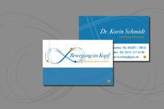 Namens- und Logoentwicklung für Dr. Karin Schmidt, Kinesiologie und Lerntherapie, 1. Umsetzung: Visitenkarte
