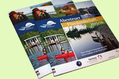 Gestaltung, Layout und Satz - Katalog  Abenteuer Flusslandschaft 2015/2016, Anklam