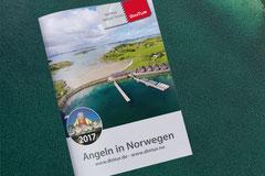 Katalogerstellung (Gestaltung, Layout, Satz) – DINTUR Angeln in Norwegen 2017