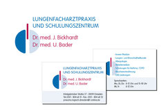 Logo, Geschäftsausstattung, Beschilderung für Lungenfacharztpraxis Bickhardt und Bader in Dresden