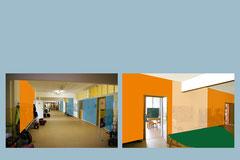 Farb- Raumkonzept für Schulhaus, Oberschule, Dresden