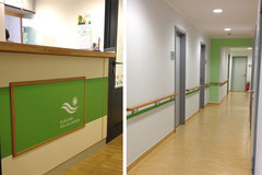 Innenraumgestaltung - Leitsystem für die Praxen der Elbland - Polikliniken im Zentralgasthof Weinböhla