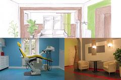 Praxisausgestaltung - Raum- und Farbkonzept, Zahnarztpraxis Kaßburg, Dresden Radebeul
