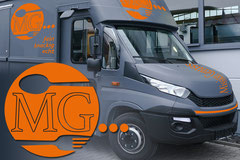 Slogan- und Logoentwicklung, Fahrzeugbeschriftung