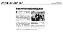 Kleine Zeitung Oberkärnten 03.03.2011