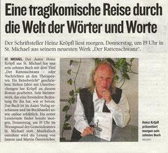 Kleine Zeitung Leoben 03.10.2012, S. 30